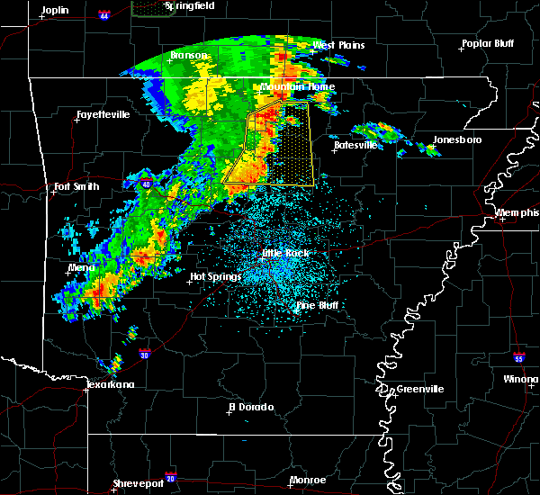Radar Image for Severe Thunderstorms near Melbourne, AR at 5/22/2020 12:39 PM CDT