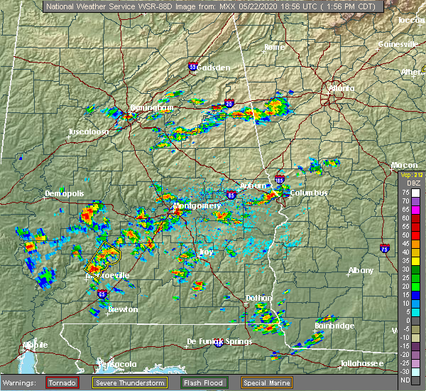 Radar Image for Severe Thunderstorms near Pine Apple, AL at 5/22/2020 1:58 PM CDT