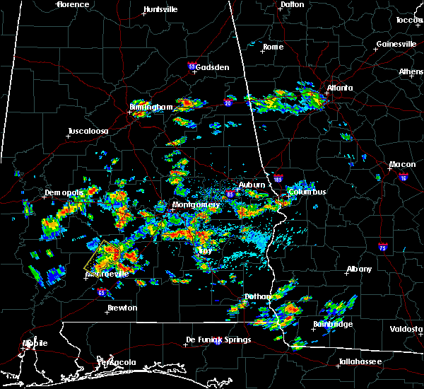 Radar Image for Severe Thunderstorms near Oak Hill, AL at 5/22/2020 2:42 PM CDT