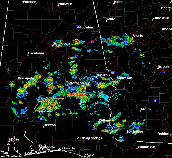 Radar Image for Severe Thunderstorms near Georgiana, AL at 5/22/2020 2:47 PM CDT