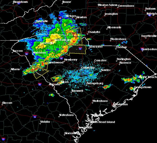Radar Image for Severe Thunderstorms near Winnsboro, SC at 5/22/2020 3:52 PM EDT