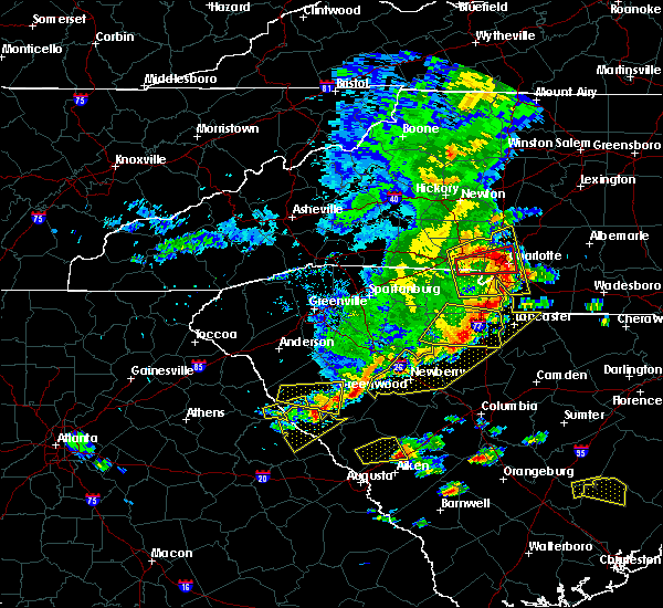 Radar Image for Severe Thunderstorms near Charlotte, NC at 5/22/2020 4:15 PM EDT