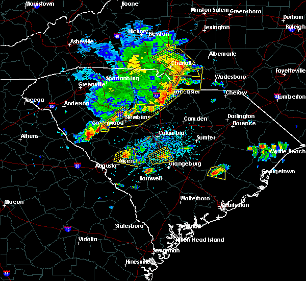Radar Image for Severe Thunderstorms near JAARS, NC at 5/22/2020 4:33 PM EDT