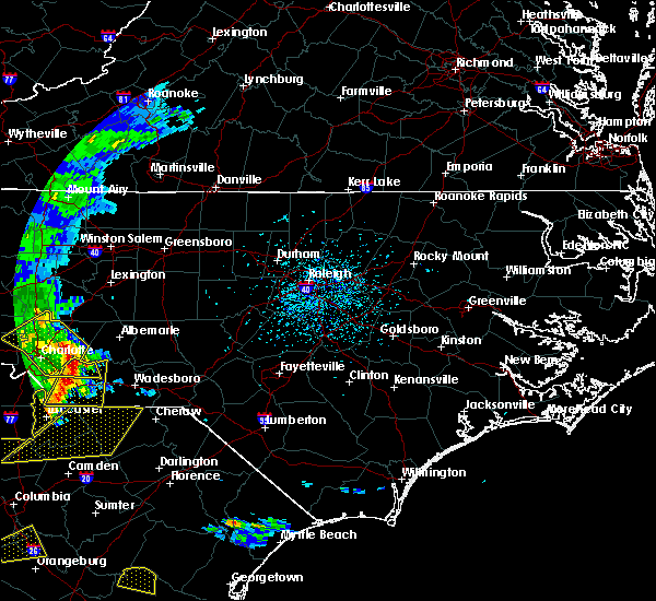 Radar Image for Severe Thunderstorms near Ansonville, NC at 5/22/2020 4:36 PM EDT
