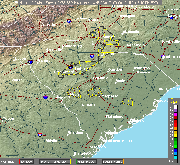 Radar Image for Severe Thunderstorms near Chapin, SC at 5/22/2020 4:39 PM EDT