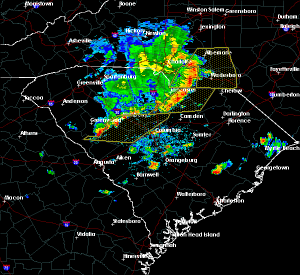 Radar Image for Severe Thunderstorms near Wingate, NC at 5/22/2020 4:50 PM EDT