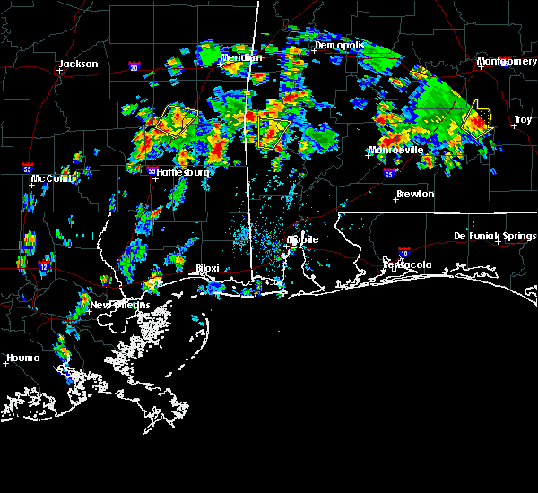 Radar Image for Severe Thunderstorms near Silas, AL at 5/22/2020 3:58 PM CDT