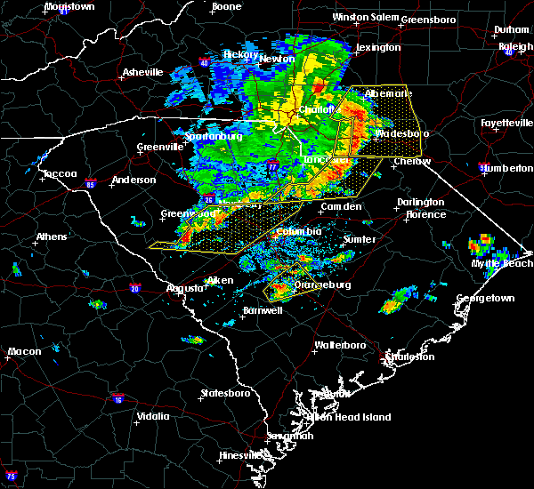 Radar Image for Severe Thunderstorms near Chapin, SC at 5/22/2020 5:00 PM EDT