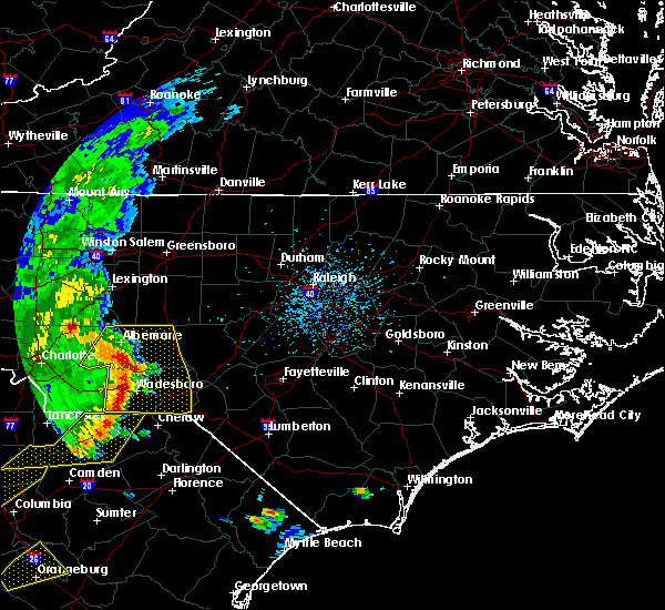 Radar Image for Severe Thunderstorms near Ansonville, NC at 5/22/2020 5:06 PM EDT