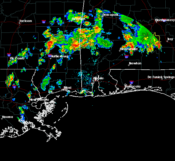 Radar Image for Severe Thunderstorms near Silas, AL at 5/22/2020 4:13 PM CDT