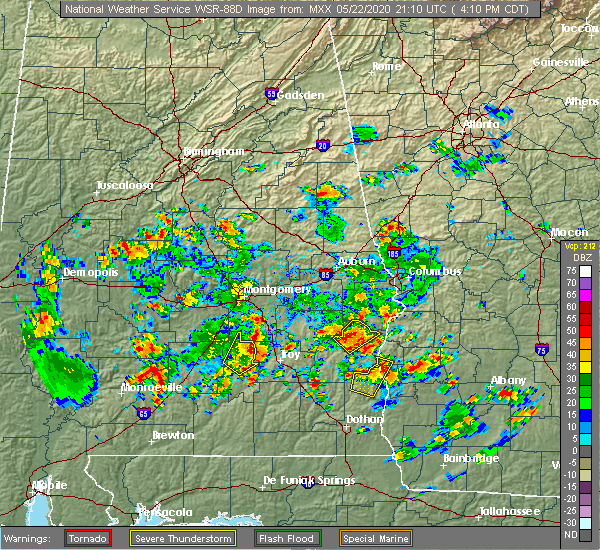 Radar Image for Severe Thunderstorms near Pike Road, AL at 5/22/2020 4:14 PM CDT