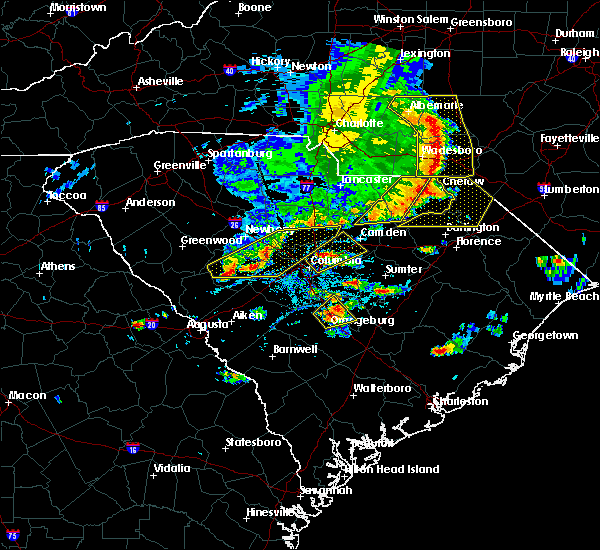 Radar Image for Severe Thunderstorms near McBee, SC at 5/22/2020 5:20 PM EDT
