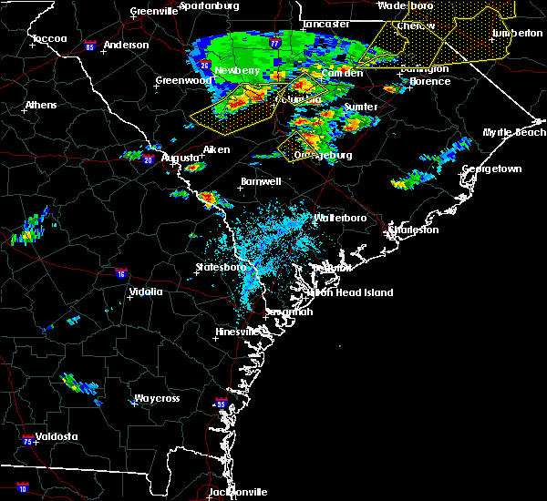 Radar Image for Severe Thunderstorms near Blackville, SC at 5/22/2020 5:43 PM EDT