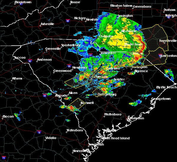 Radar Image for Severe Thunderstorms near Camden, SC at 5/22/2020 5:48 PM EDT