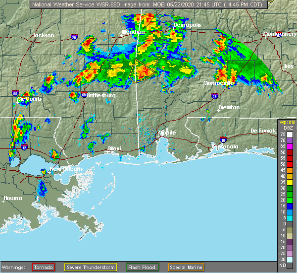 Radar Image for Severe Thunderstorms near Silas, AL at 5/22/2020 4:50 PM CDT