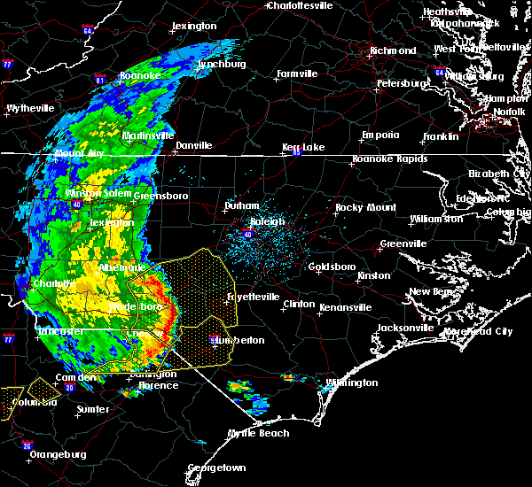 Radar Image for Severe Thunderstorms near Pinehurst, NC at 5/22/2020 5:56 PM EDT