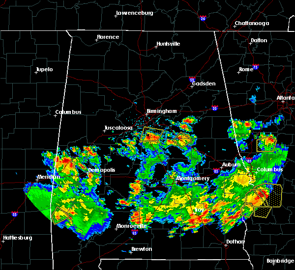 Radar Image for Severe Thunderstorms near Shelby, AL at 5/22/2020 4:59 PM CDT