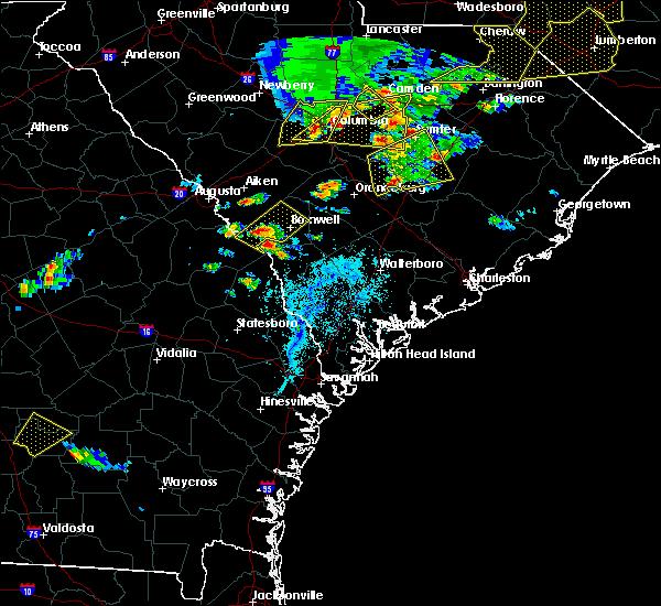 Radar Image for Severe Thunderstorms near Allendale, SC at 5/22/2020 6:03 PM EDT