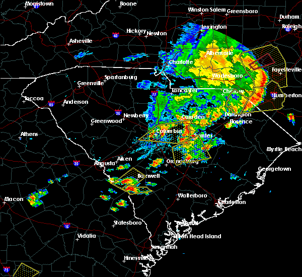 Radar Image for Severe Thunderstorms near Lydia, SC at 5/22/2020 6:12 PM EDT