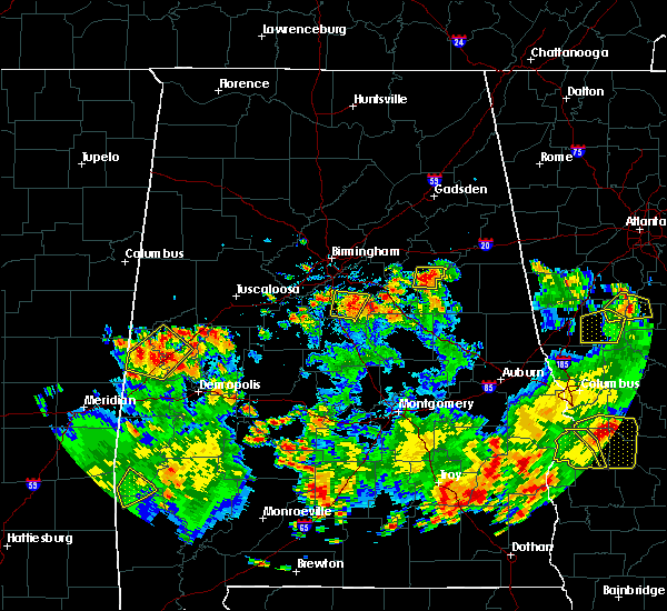 Radar Image for Severe Thunderstorms near Shelby, AL at 5/22/2020 5:15 PM CDT