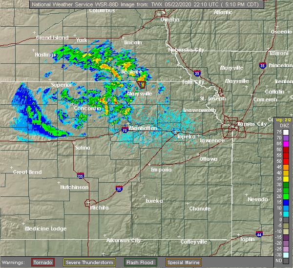 Radar Image for Severe Thunderstorms near Summerfield, NE at 5/22/2020 5:15 PM CDT