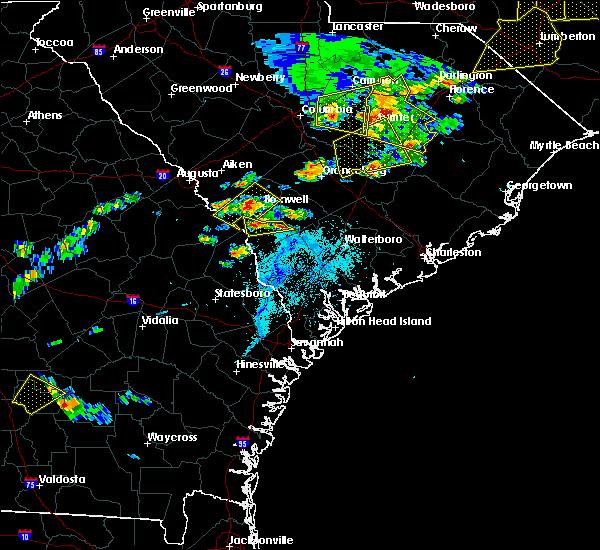 Radar Image for Severe Thunderstorms near Allendale, SC at 5/22/2020 6:25 PM EDT