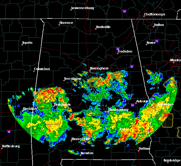 Radar Image for Severe Thunderstorms near Shelby, AL at 5/22/2020 5:27 PM CDT