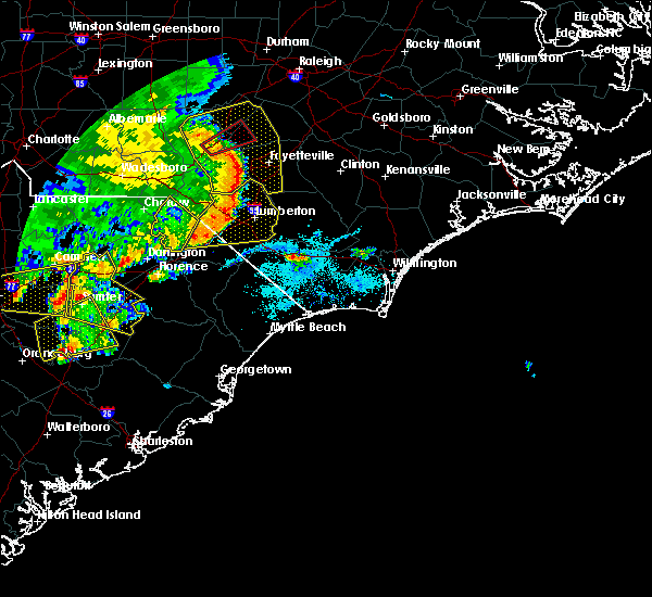 Radar Image for Severe Thunderstorms near East Arcadia, NC at 5/22/2020 6:27 PM EDT