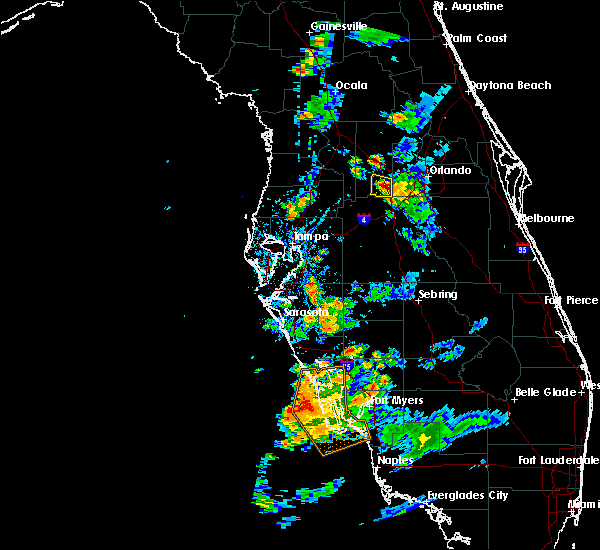 Radar Image for Severe Thunderstorms near Four Corners, FL at 5/22/2020 6:34 PM EDT