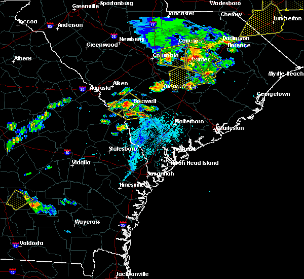 Radar Image for Severe Thunderstorms near Blackville, SC at 5/22/2020 6:35 PM EDT