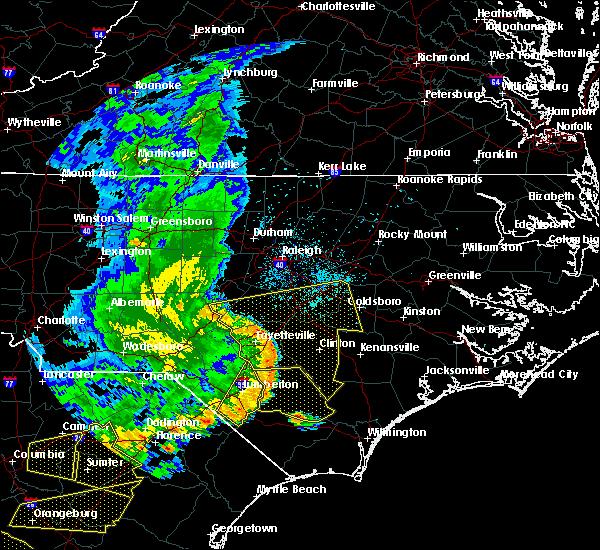 Radar Image for Severe Thunderstorms near Clinton, NC at 5/22/2020 6:43 PM EDT