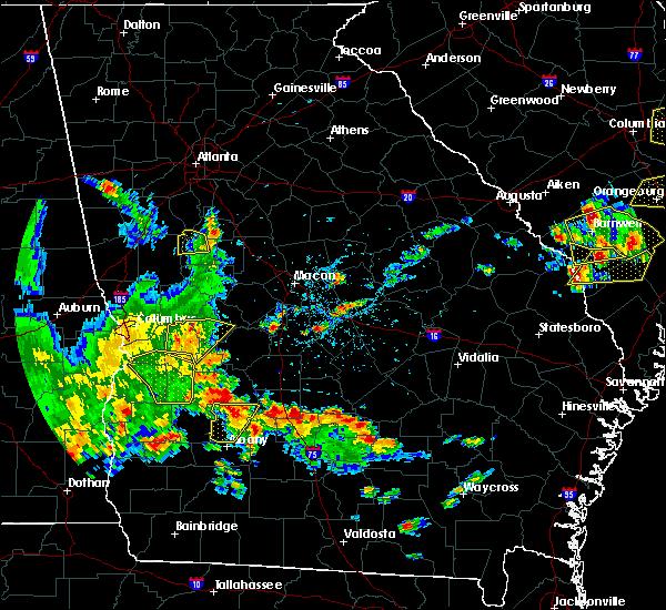 Radar Image for Severe Thunderstorms near De Soto, GA at 5/22/2020 6:49 PM EDT