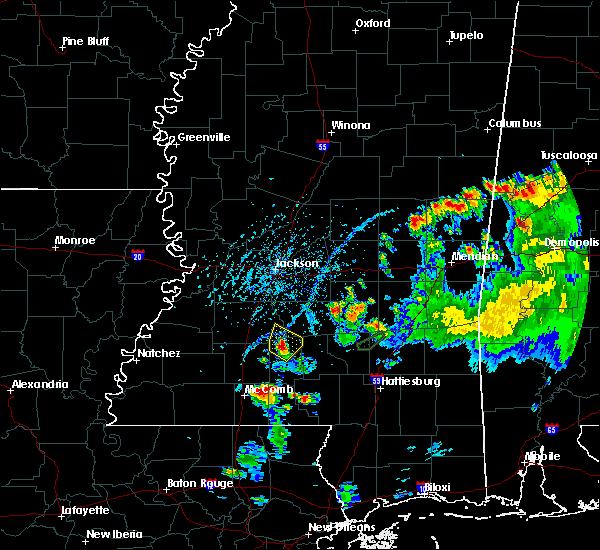Radar Image for Severe Thunderstorms near New Hebron, MS at 5/22/2020 5:56 PM CDT
