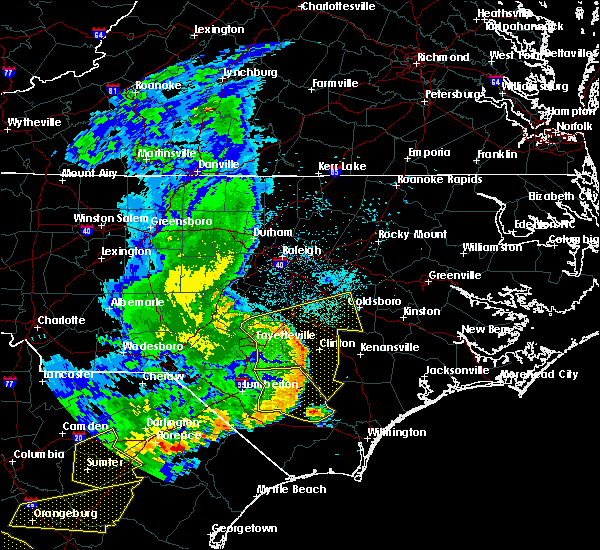Radar Image for Severe Thunderstorms near Mount Olive, NC at 5/22/2020 6:59 PM EDT