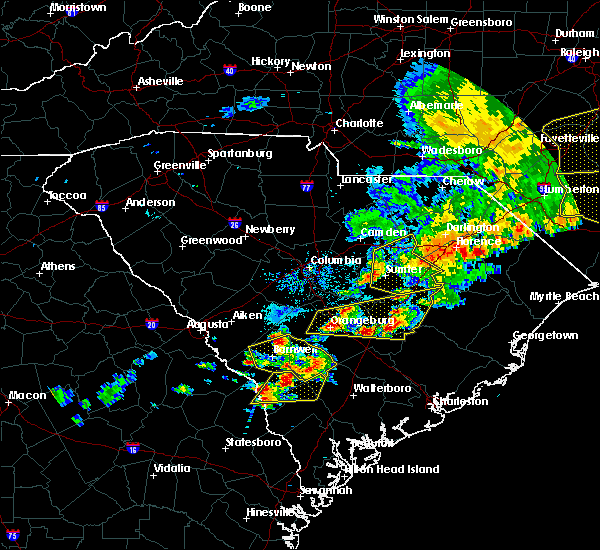 Radar Image for Severe Thunderstorms near Lydia, SC at 5/22/2020 6:59 PM EDT