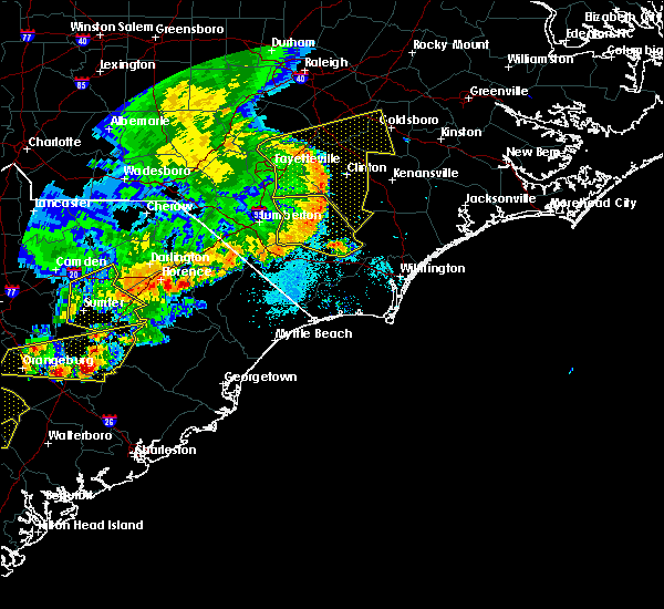 Radar Image for Severe Thunderstorms near Marion, SC at 5/22/2020 7:04 PM EDT