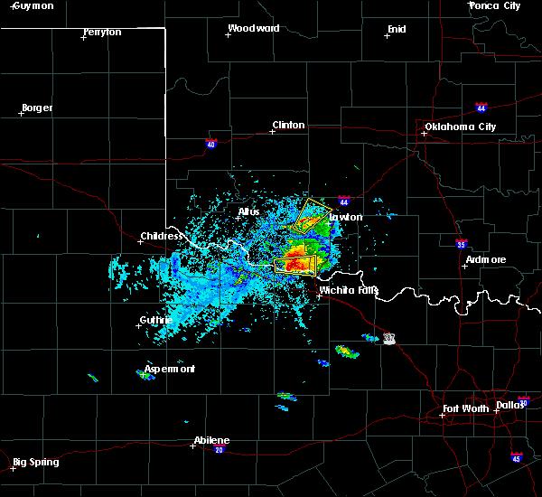 Radar Image for Severe Thunderstorms near Wichita Falls, TX at 5/22/2020 6:06 PM CDT
