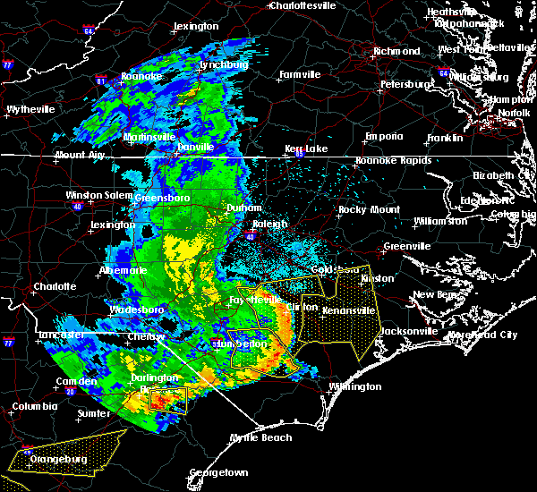 Radar Image for Severe Thunderstorms near Clinton, NC at 5/22/2020 7:12 PM EDT