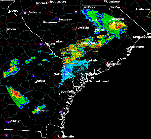Radar Image for Severe Thunderstorms near Bowman, SC at 5/22/2020 7:18 PM EDT