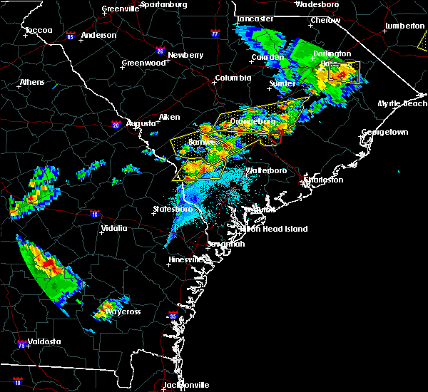 Radar Image for Severe Thunderstorms near Bonneau Beach, SC at 5/22/2020 7:20 PM EDT