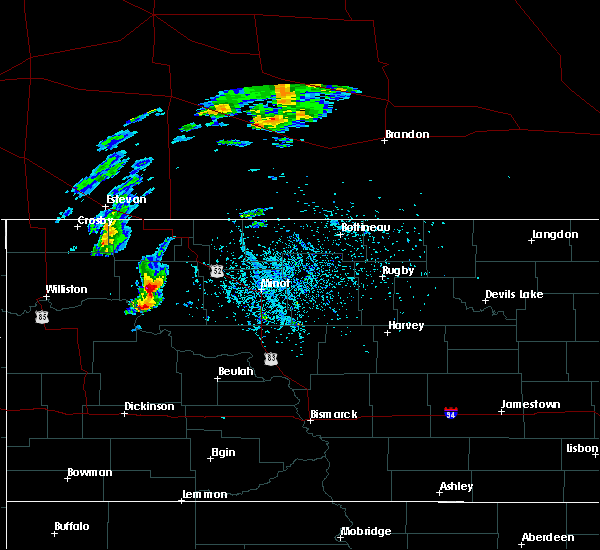 Radar Image for Severe Thunderstorms near Stanley, ND at 5/22/2020 6:26 PM CDT