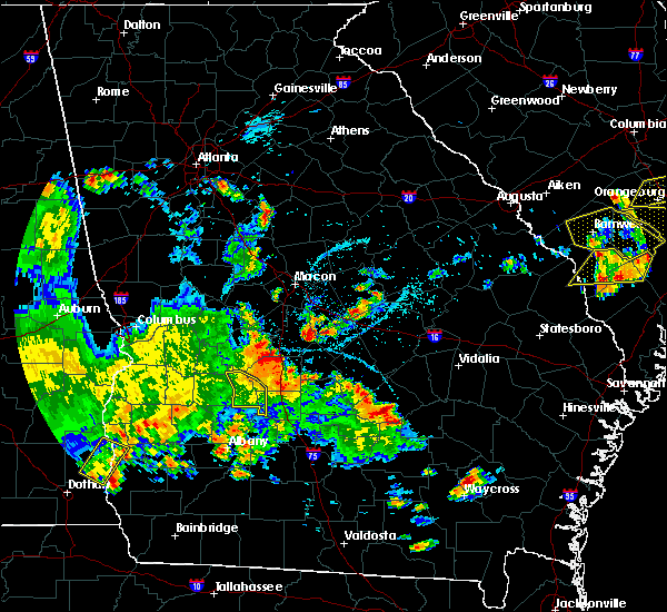 Radar Image for Severe Thunderstorms near Unadilla, GA at 5/22/2020 7:32 PM EDT