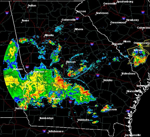 Radar Image for Severe Thunderstorms near Pinehurst, GA at 5/22/2020 7:32 PM EDT
