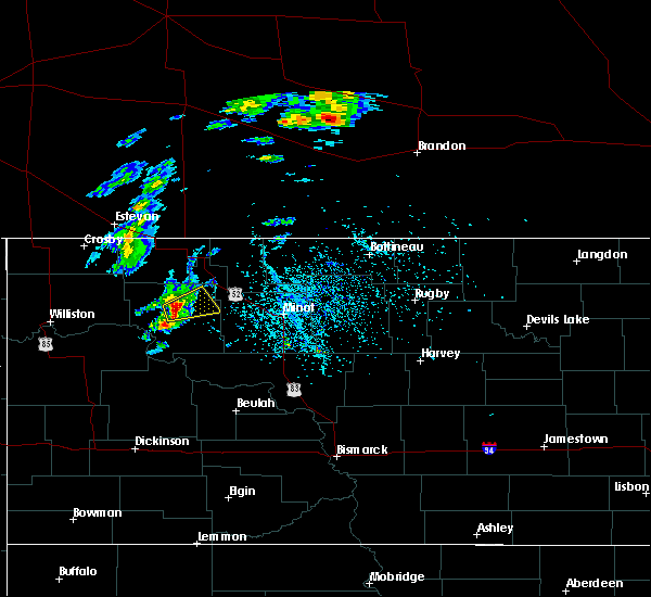 Radar Image for Severe Thunderstorms near Stanley, ND at 5/22/2020 6:39 PM CDT
