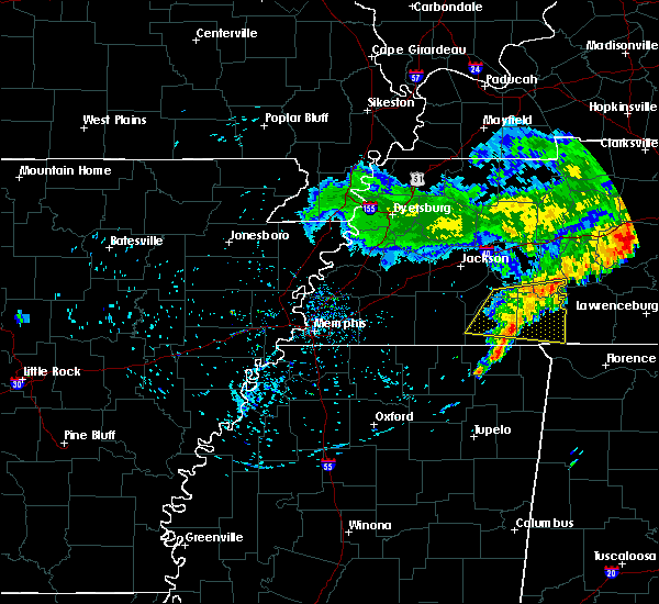 Radar Image for Severe Thunderstorms near Savannah, TN at 5/22/2020 6:46 PM CDT