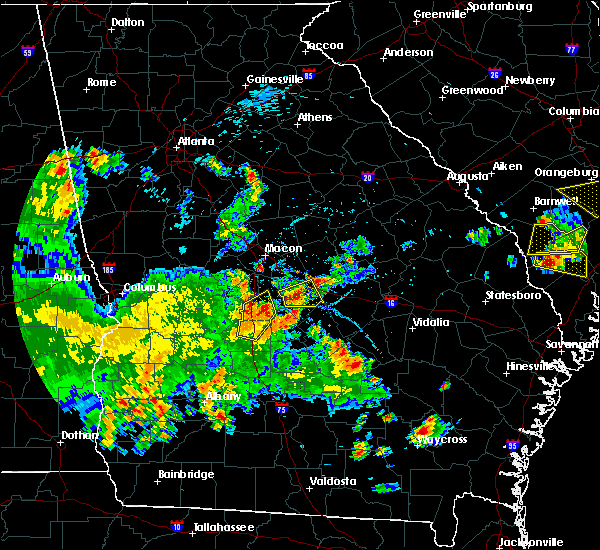 Radar Image for Severe Thunderstorms near Unadilla, GA at 5/22/2020 7:49 PM EDT