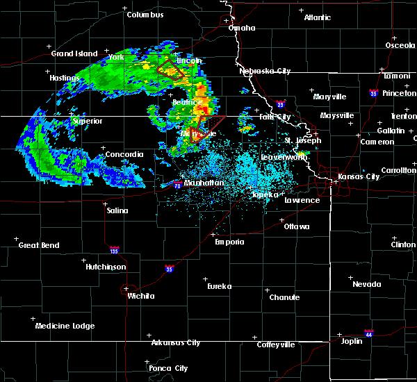 Radar Image for Severe Thunderstorms near Frankfort, KS at 5/22/2020 6:49 PM CDT