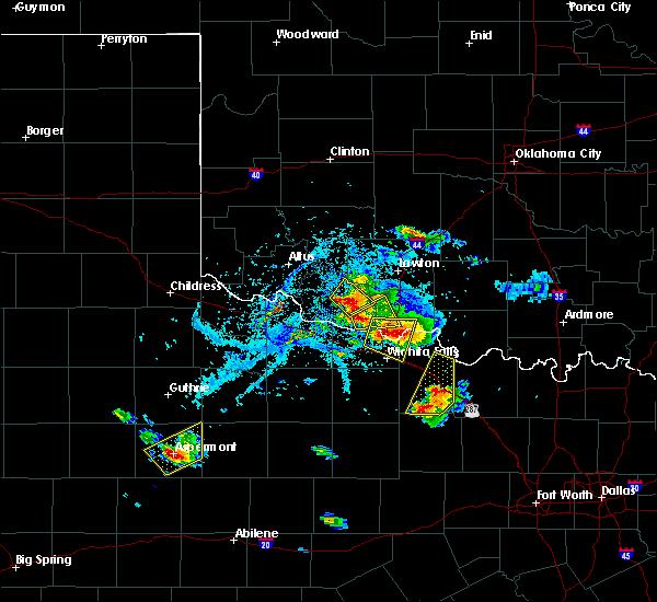Radar Image for Severe Thunderstorms near Wichita Falls, TX at 5/22/2020 7:00 PM CDT