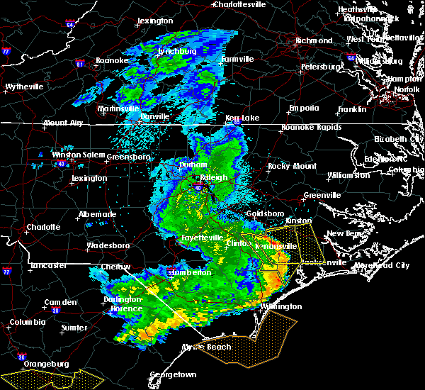 Radar Image for Severe Thunderstorms near Richlands, NC at 5/22/2020 8:02 PM EDT