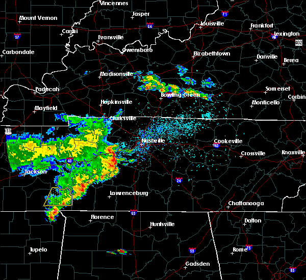 Radar Image for Severe Thunderstorms near Spring Hill, TN at 5/22/2020 7:09 PM CDT